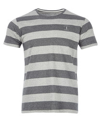 Grey & charcoal striped T-shirt