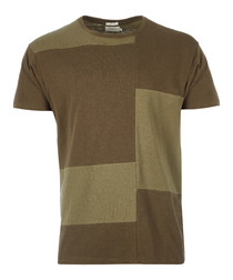Teak green pure cotton T-shirt