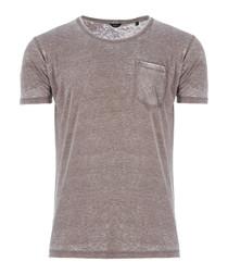 Shepherds grey cotton blend T-shirt