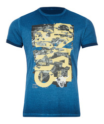 Tony dark blue pure cotton T-shirt