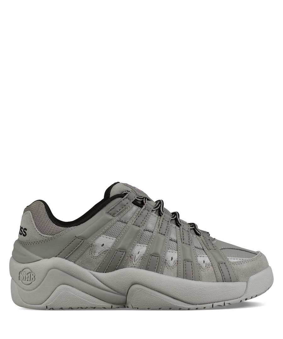 Endorsement charcoal leather sneakers Sale - k swiss