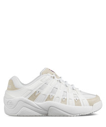 Endorsement white leather sneakers