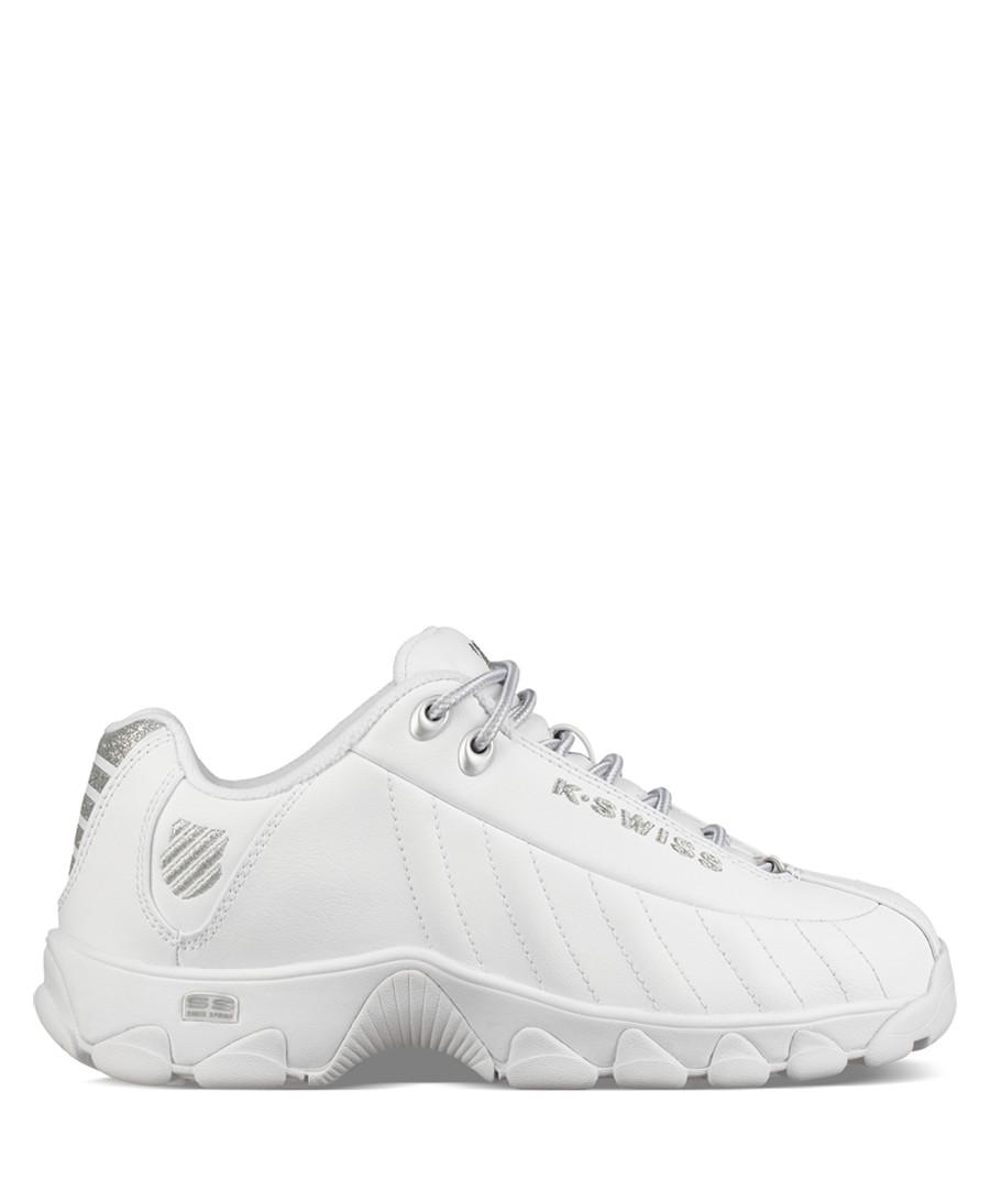 ST329 white & silver-tone sneakers Sale - k swiss