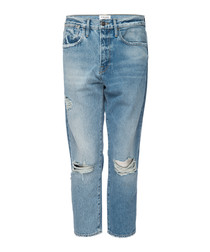 Le Stevie deane ripped cropped jeans