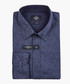 Navy patterned button-up shirt Sale - hackett Sale