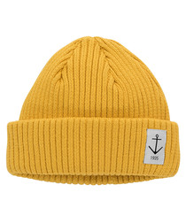 Mustard pure cotton beanie