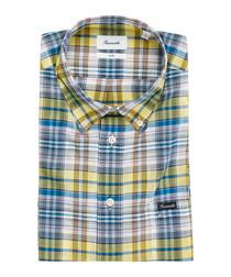 Club yellow & blue button-down shirt