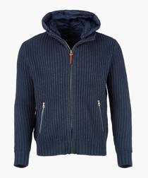 Deep sea zip-up knit
