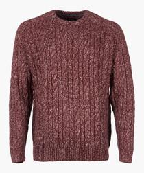 Dark wine knit jumper