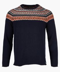 Navy knit jumper