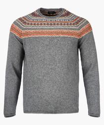 Grey marl knit jumper