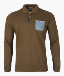 Teak long sleeve polo shirt