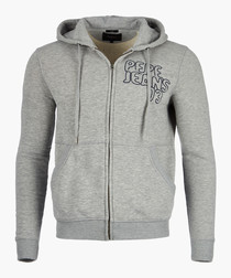 Light grey branded hoodie