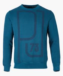Ink blue graphic logo sweatshirt