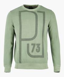 Forest khaki graphic sweatshirt