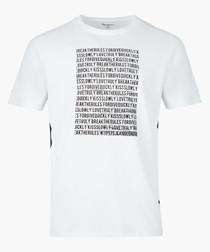Optic white graphic T-shirt