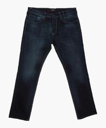 Mid dark denim jeans