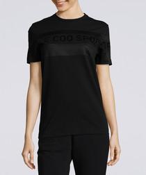 D'Or black pure cotton T-shirt