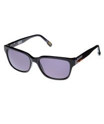 Black & grey rectangle sunglasses