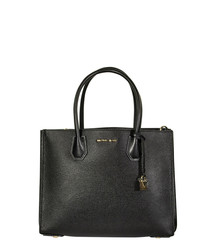 Mercer black leather shopper