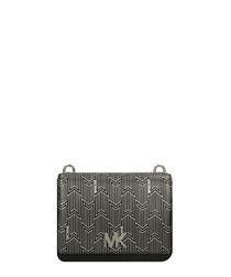 Mott black & silver-tone crossbody