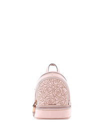 Rhea soft pink rose backpack