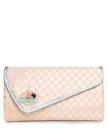 Orphelia peach envelope clutch