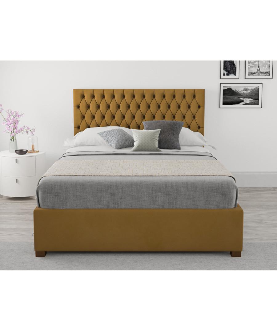 Nightingale ochre double ottoman bed Sale - aspire furniture