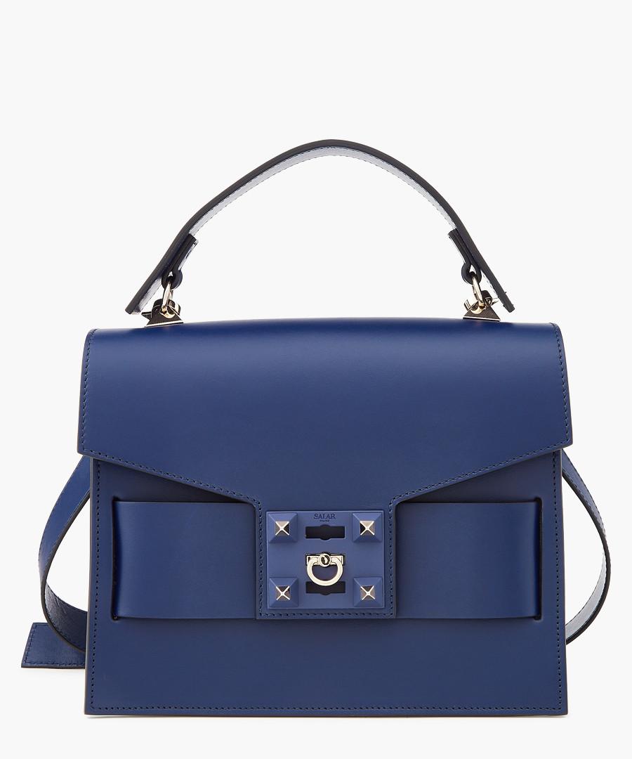 Gigi blue leather grab bag Sale - Salar