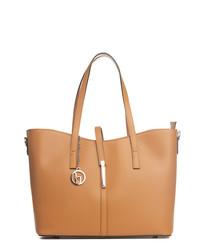 Parma cognac leather shoulder bag