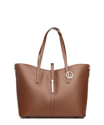 Parma brown leather shoulder bag