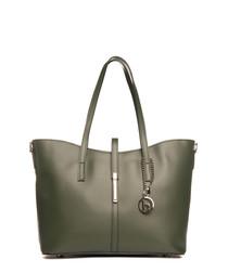 Parma green leather shoulder bag