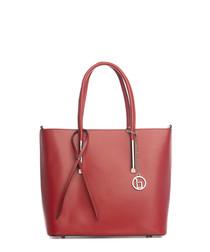 Mallero red leather shoulder bag