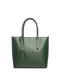 Mallero green leather shoulder bag