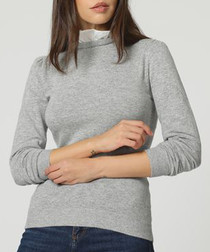 Grey & white cashmere blend jumper