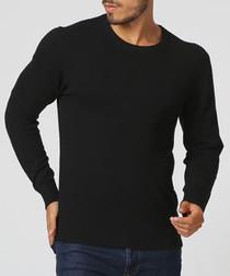 Black cashmere blend jumper