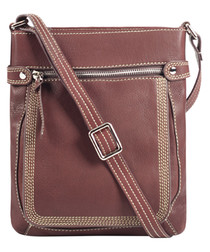 Red leather crossbody