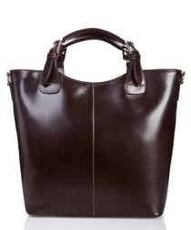 Corno Grande dark brown leather shopper