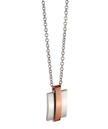 Dual-plated steel bar necklace