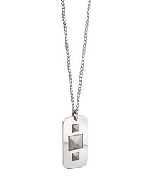 Silver-plated stud necklace
