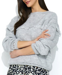 Grey mohair & wool blend jumper