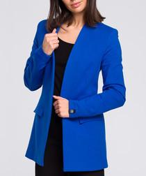 Royal blue cotton blend blazer
