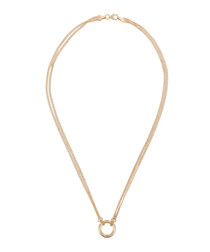 Round 9k yellow gold necklace