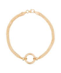 Rounda 9k yellow gold bracelet