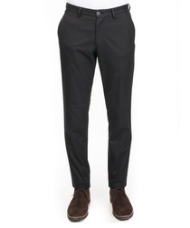 Anthracite cotton blend trousers