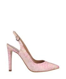 Pink & gold slingback heels