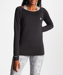 Black long sleeve sweatshirt