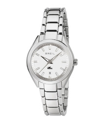 Manta City silver-tone watch