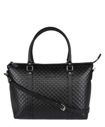 Guccissima black leather shopper