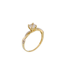 Solitaire magnifique yellow gold ring
